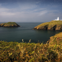 Buy canvas prints of STRUMBLE HEAD LIGHT HOUSE by Anthony R Dudley (LRPS)