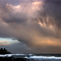 Buy canvas prints of STORM OVER BRACELET BAY by Anthony R Dudley (LRPS)