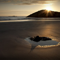 Buy canvas prints of WHITESANDS SUNSET AND TIDAL POOL by Anthony R Dudley (LRPS)
