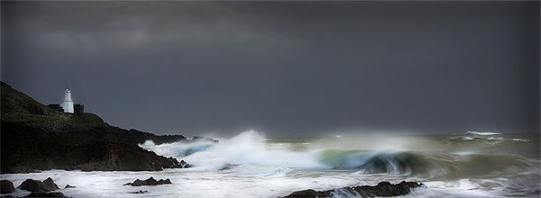 WINTER STORM,MUMBLES. Canvas print by Anthony R Dudley (LRPS)