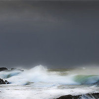 Buy canvas prints of WINTER STORM,MUMBLES. by Anthony R Dudley (LRPS)