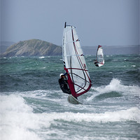 Buy canvas prints of WIND SURFERS by Anthony R Dudley (LRPS)