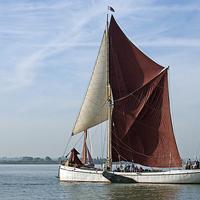 Buy canvas prints of Thames Barge Reminder by Howard Corlett
