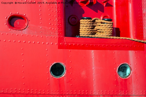 Lightship abstract Canvas print by Howard Corlett