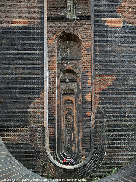 Ouse Valley Viaduct Framed Print by Howard Corlett