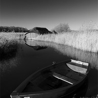 Buy canvas prints of Hickling Rowing Boat by Simon Wrigglesworth