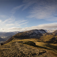 Buy canvas prints of Onwards to Hindscarth by Simon Wrigglesworth