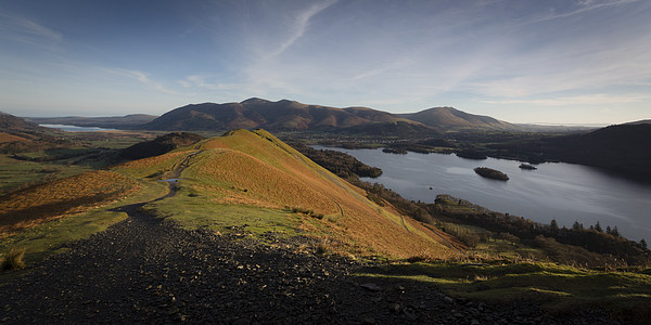 Cat Bells Dawn Canvas Print by Simon Wrigglesworth