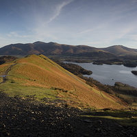 Buy canvas prints of Cat Bells Dawn by Simon Wrigglesworth