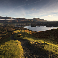 Buy canvas prints of Lake District Sunrise by Simon Wrigglesworth
