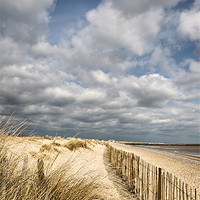 Buy canvas prints of Aldeburgh beach by Simon Wrigglesworth
