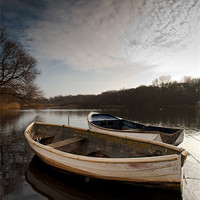 Buy canvas prints of Ormesby boats by Simon Wrigglesworth