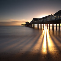 Buy canvas prints of Southwold Pier dawn by Simon Wrigglesworth