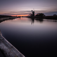 Buy canvas prints of Norfolk Winter Sunset by Simon Wrigglesworth