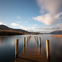Buy canvas prints of Derwentwater Jetty by Simon Wrigglesworth