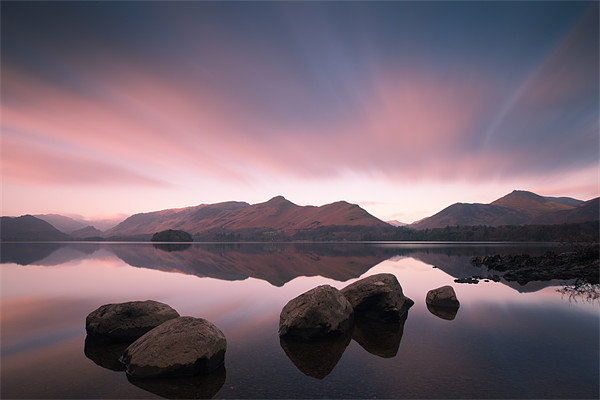 Causey Pike and Cat Bells Canvas Print by Simon Wrigglesworth