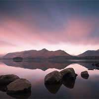 Buy canvas prints of Causey Pike and Cat Bells by Simon Wrigglesworth