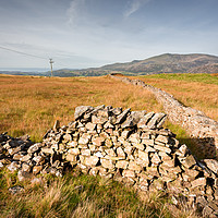 Buy canvas prints of old drystone wall by Simon Wrigglesworth