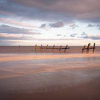 Buy canvas prints of Norfolk coastal sunset by Simon Wrigglesworth