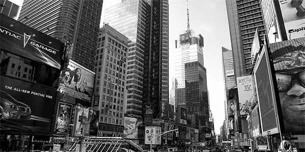 Times Square - Manhattan Framed Mounted Print by Simon Wrigglesworth