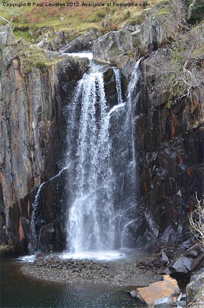 2. Walna Scar Waterfall Canvas Print by Paul Leviston