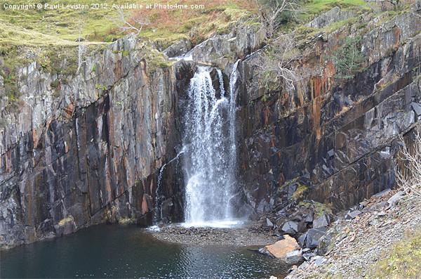 3. Walna Scar Waterfall Canvas Print by Paul Leviston