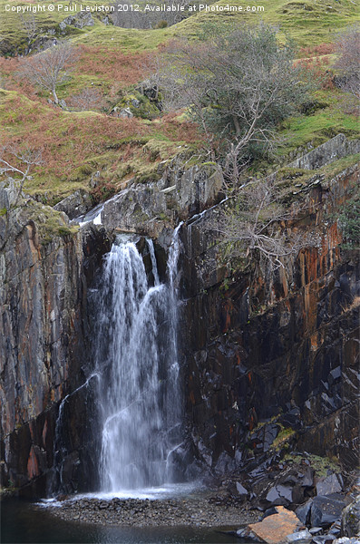 4. Walna Scar Waterfall Canvas Print by Paul Leviston