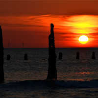Buy canvas prints of Walney Sunset 3 by Paul Leviston
