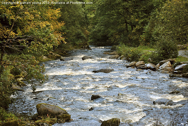 The River Lyn at Watersmeet Canvas print by graham young
