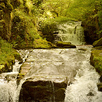 Buy canvas prints of Watersmeet Falls by graham young