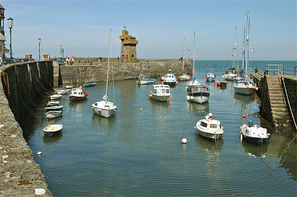 Lynmouth Harbour, North Devon Canvas print by graham young