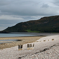 Buy canvas prints of Porlock Beach and Hurlestone Point, Somerset by graham young