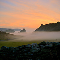 Buy canvas prints of Sunset at The Valley of Rocks by graham young