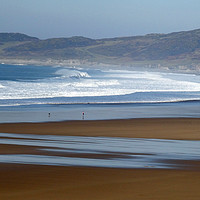 Buy canvas prints of Woolacombe Beach by graham young