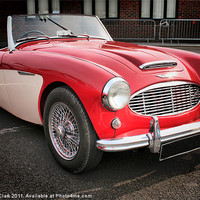 Buy canvas prints of Austin healey by Nicola Clark