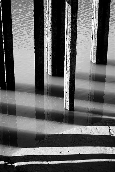 Black and White Reflections Canvas print by Christine Lake