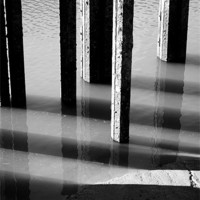 Buy canvas prints of Black and White Reflections by Christine Lake