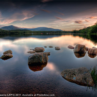 Buy canvas prints of Loch Morlich - Sunset by David Lewins (LRPS)