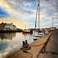 Buy canvas prints of Eyemouth Harbour by David Lewins