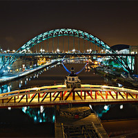 Buy canvas prints of Bridges of the River Tyne, Newcastle. UK by David Lewins