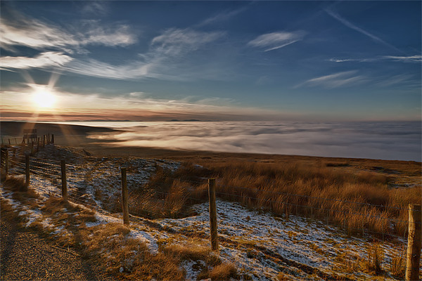 Cloud Inversion Hartside Framed Print by David Lewins