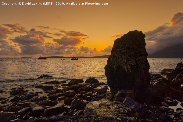 Elgol Sunset Canvas print by David Lewins (LRPS)