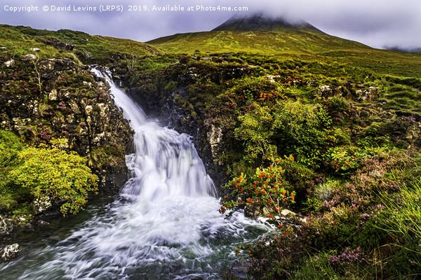 Glen Brittle Waterfall Canvas print by David Lewins (LRPS)