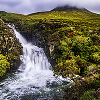 Buy canvas prints of Glen Brittle Waterfall by David Lewins (LRPS)