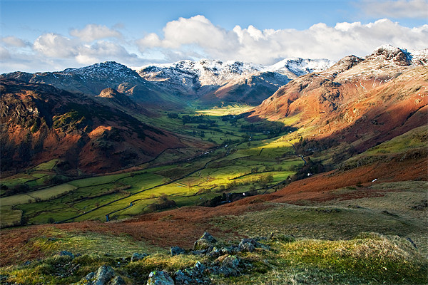 Great Langdale Valley Canvas print by David Lewins