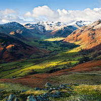 Buy canvas prints of Great Langdale Valley by David Lewins
