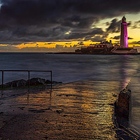 Buy canvas prints of St. Mary's Lighthouse by David Lewins (LRPS)
