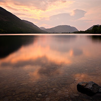 Buy canvas prints of Sunset Buttermere, Cumbria by David Lewins