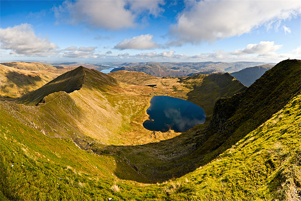 Swirral Edge, Red Tarn & Striding Edge Canvas print by David Lewins