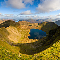 Buy canvas prints of Swirral Edge, Red Tarn & Striding Edge by David Lewins